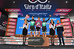 Bora-Hansgroha leading team after Stage 19 of the 2019 Giro d'Italia, running 151km from Treviso to San Martino di Castrozza, Italy. 31st May 2019<br /> Picture: Massimo Paolone/LaPresse | Cyclefile<br /> <br /> All photos usage must carry mandatory copyright credit (© Cyclefile | Massimo Paolone/LaPresse)
