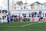 Ollie Palmer of Grimsby Town scores the opening goal against Woking during the Vanamara Conference League match at the Kingfield Stadium, Woking, Surrey<br /> Picture by David Horn/eXtreme aperture photography +44 7545 970036<br /> 07/03/2015