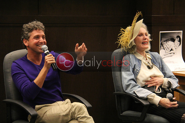 Eddie Shapiro, Julie Newmar<br /> at the &quot;Nothing Like A Dame&quot; Book Release Party, Barnes &amp; Noble, Los Angeles, CA 03-26-14<br /> David Edwards/DailyCeleb.Com 818-249-4998