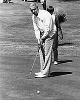 Yankee great Joe DiMaggio putting at Round Hill CC.in Alamo, Ca (1973)