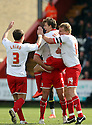 Luke Freeman of Stevenage scores their second and celebrates. - Stevenage v Brentford - npower League 1 - Lamex Stadium, Stevenage - 21st April, 2012. © Kevin Coleman 2012