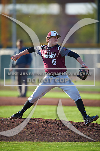 Ryan Dempsey (16) of MCKINNEY BOYD High School in McKinney, Texas during the Under Armour All-American Pre-Season Tournament presented by Baseball Factory on January 14, 2017 at Sloan Park in Mesa, Arizona.  (Mike Janes/Mike Janes Photography)