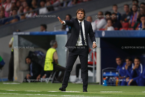 Antonio Conte (Chelsea), SEPTEMBER 27, 2017 - Football / Soccer : UEFA Champions League Mtchday 2 Group C match between Club Atletico de Madrid 1-2 Chelsea FC at the Estadio Metropolitano in Madrid, Spain. (Photo by Mutsu Kawamori/AFLO) [3604]
