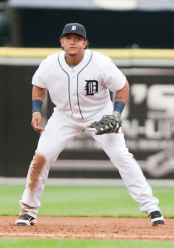 June 15, 2010: Detroit Tigers first baseman Miguel Cabrera (#24) in game action between the Washington Nationals and the Detroit Tigers at Comerica Park in Detroit, Michigan.  The Tigers defeated the Nationals 7-4..