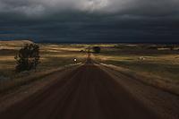 The North Dakota landscape near Cannonball, ND on Friday, September 16, 2016.