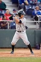 Boise Hawks' Dustin Harrington #9 at bat against the Everett AquaSox at Everett Memorial Stadium in Everett, Washington on July 30, 2011. (Ronnie Allen/Four Seam Images)