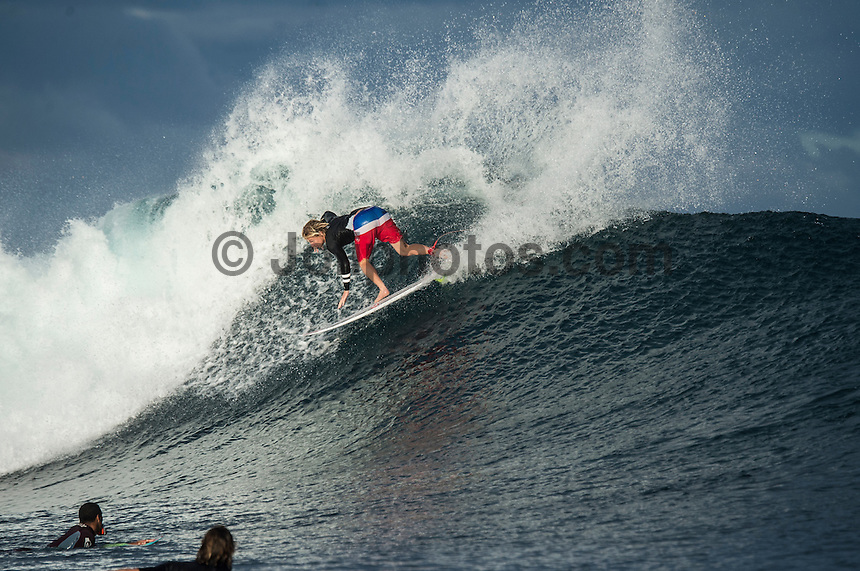 Namotu Island Resort, Namotu, Fiji. (Wednesday June 4, 2014) Kolohe Andino (USA) – Free surfing session went down this morning while organises debated a starting time for the Fiji Pro. Photo: joliphotos.com