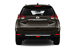 Straight rear view of 2018 Nissan X-Trail Tekna 5 Door SUV Rear View  stock images