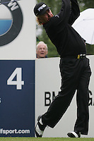 Miguel Andel Jimenez drives off on the 4th tee during the 3rd round of the BMW PGA Championship at Wentworth Club, Surrey, England 26th may 2007 (Photo by Eoin Clarke/NEWSFILE)