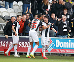 20.10.2018 St Mirren v Kilmarnock: Adam Hammill celebrates after his free-kick ends up in the net
