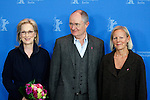 "14 February 2012 Berlin Germany. Actress MERYL STREEP, actor JIM BROADBENT and director PHYLLIDA LLOYD pose for photographers at the photocall for the film ""The Iron Lady"" during the 62nd Berlin International Film Festival Berlinale."