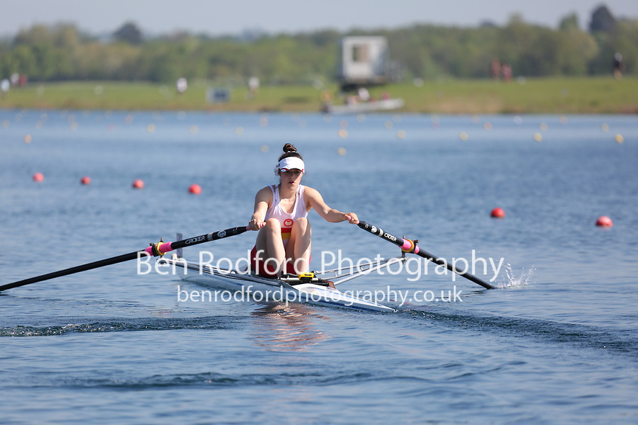 Race: 59  Event: WJ17 1x  A Final<br /> <br /> Junior Sculling Regatta 2018<br /> <br /> To purchase this photo, or to see pricing information for Prints and Downloads, click the blue 'Add to Cart' button at the top-right of the page.