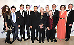 Daisy Bevan, Ben Clark, Daniel Neeson, Michael Neeson, Franco Nero, Vanessa Redgrave, Joely Richardson, Kika Markham, Carlo Gabriel Nero, Annabel Clark, Gabriel Owen attending the American Theatre Wing's annual gala at the Plaza Hotel on Monday Sept. 24, 2012 in New York.