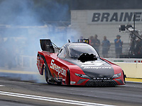 Aug 18, 2017; Brainerd, MN, USA; NHRA funny car driver Cruz Pedregon during qualifying for the Lucas Oil Nationals at Brainerd International Raceway. Mandatory Credit: Mark J. Rebilas-USA TODAY Sports