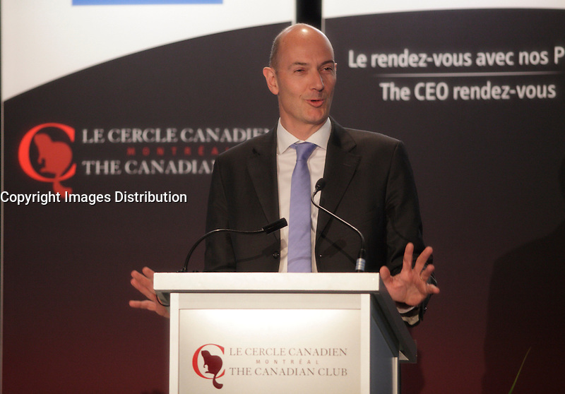 April 6, 2013 - Montreal, Quebec,  CANADA -  	ROLAND LESCURE, EXECUTIVE VICE-PRESIDENT & CHIEF INVESTMENT OFFICER, CAISSE DE DEPOT ET PLACEMENT DU QUEBEC, AT THE CANADIAN CLUB OF MONTREAL'S PODIUM