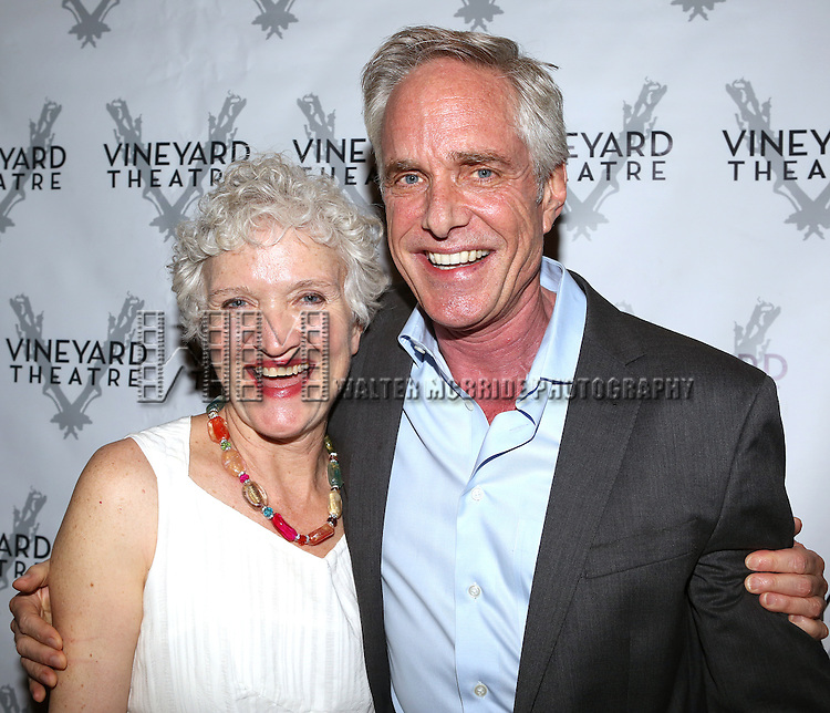 Mary Shultz, Richard Bekins attending the Opening Night After Party for the Vineyard Theatre Production of 'Somewhere Fun' at the Vineyard Theatre in New York City on June 04, 2013.