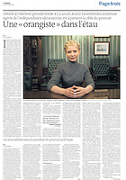 UKRAINE, Kiev, 29.01.2011. Publication in Le Monde (French main newspaper) of the picture of Cyril Horiszny...Iulia Tymoshenko former Prime Minister and muse of the Orange Revolution was sentenced on 1rst of Octobre 2011 to seven years imprisonment for abuse of power under gas contracts signed with Russia in 2009, while practicing function of head of government. This conviction was criticized by his supporters and Western governments, who see a political motive in this trial..Le 11 octobre 201, Ioulia Timochenko l'ex-premier ministre et muse de la révolution Orange a été condamnée à sept ans d'emprisonnement pour abus de pouvoir dans le cadre de contrats gaziers signés avec la Russie en 2009, alors qu'elle exerçait la fonction de chef du gouvernement. Cette condamnation est critiquée par ses partisans et les gouvernements occidentaux, qui voient un motif politique dans ce procès..© Cyril Horiszny / Est&Ost Photography
