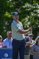 Matt Kuchar (USA) watches his tee shot on 8 during Round 1 of the Zurich Classic of New Orl, TPC Louisiana, Avondale, Louisiana, USA. 4/26/2018.<br /> Picture: Golffile | Ken Murray<br /> <br /> <br /> All photo usage must carry mandatory copyright credit (&copy; Golffile | Ken Murray)