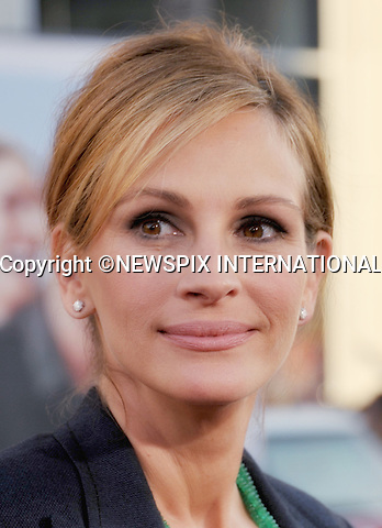 "JULIA ROBERTS.attends the World Premiere of ""Larry Crowne"" at the Grauman's Chinese Theatre, Hollywood, Los Angeles, California_27/06/2011.Mandatory Photo Credit: ©Crosby/Newspix International. .**ALL FEES PAYABLE TO: ""NEWSPIX INTERNATIONAL""**..PHOTO CREDIT MANDATORY!!: NEWSPIX INTERNATIONAL(Failure to credit will incur a surcharge of 100% of reproduction fees).IMMEDIATE CONFIRMATION OF USAGE REQUIRED:.Newspix International, 31 Chinnery Hill, Bishop's Stortford, ENGLAND CM23 3PS.Tel:+441279 324672  ; Fax: +441279656877.Mobile:  0777568 1153.e-mail: info@newspixinternational.co.uk"