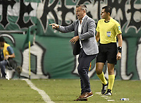 PALMIRA - COLOMBIA, 26-05-2019: Lucas Pusineri técnico del Cali gesticula durante partido entre Deportivo Cali y Atlético Nacional por la fecha 4, cuadrangulares semifinales, de la Liga Águila I 2019 jugado en el estadio Deportivo Cali de la ciudad de Palmira. / Lucas Pusineri coach of Cali gestures during match between Deportivo Cali and Atletico Nacional for the date 4, semifinal quadrangulars, as part Aguila League I 2019 played at Deportivo Cali stadium in Palmira city.  Photo: VizzorImage / Gabriel Aponte / Staff