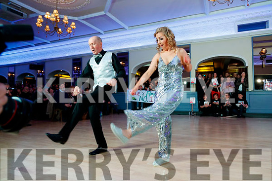 Aisling Sheehy and Nealie Warren dancing at Sickly Come Dancing, UHK, at Ballygarry House Hotel & Spa, Tralee on Friday night last.
