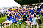 Lixnaw players celebrate after winning the Kerry County Senior Hurling championship Final at Austin Stack Park on Sunday.
