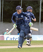Cricket Scotland - Scotland V Namibia One Day International match at Grange CC today (Thur) - this match is the first of two ODI matches this week against Zimbabwe - Scotland's Michael Leask and Craig Wallace had an 83 run partnership, off 8.4 - picture by Donald MacLeod - 15.06.2017 - 07702 319 738 - clanmacleod@btinternet.com - www.donald-macleod.com