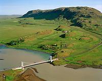 Iða séð til suðurs, Hvítá; Vörðufell, Bláskógabyggð áður Biskupstungnahreppur / Ida viewing south, river Hvita, mount Vordufell, Blaskogabyggd former Biskupstungnahreppur.