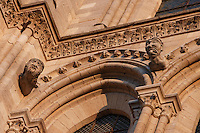 Detail of sculptures, facade, Church of Notre Dame, 12th - 14th century, Mantes-la-Jolie, Yvelines, France Picture by Manuel Cohen