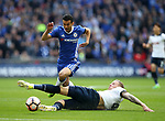 Chelsea's Pedro gets brought down by Tottenham's Toby Alderweireld during the FA Cup Semi Final match at Wembley Stadium, London. Picture date: April 22nd, 2017. Pic credit should read: David Klein/Sportimage