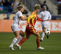 Christie Rampone, Ma Jun.  The U.S. tied China, 1-1, during an international friendly at PPL Park in Chester, PA.