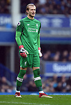 Liverpool goalkeeper Loris Karius during the premier league match at Goodison Park Stadium, Liverpool. Picture date 7th April 2018. Picture credit should read: Robin Parker/Sportimage