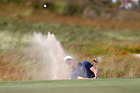 Alexander Noren (SWE) hits out of a sand trap  on the 16th hole during the first round of the 118th U.S. Open Championship at Shinnecock Hills Golf Club in Southampton, NY, USA. 14th June 2018.<br /> Picture: Golffile | Brian Spurlock<br /> <br /> <br /> All photo usage must carry mandatory copyright credit (&copy; Golffile | Brian Spurlock)