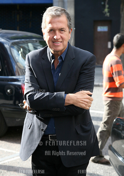 Mario Testino arriving for the Kate Who? Private View, London. 05/07/2010  Picture by: Alexandra Glen / Featureflash