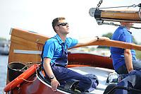 ZEILSPORT: DE VEENHOOP: 07-08-2017, SKS Skûtsjesilen, schipper d'Halve Maen Klaas Westerdijk, ©foto Martin de Jong