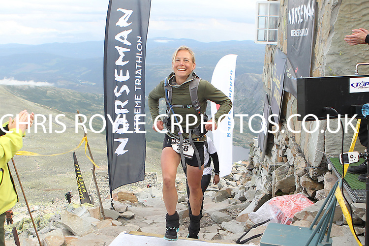 Race number 258 - Katrin Grieger -  Sunday Norseman Xtreme Tri 2012 - Norway - photo by chris royle / boxingheaven@gmail.com