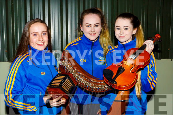 Sinead Behan, Clodagh Murphy and Kalim Foley St Senans who competed at the County Scor finals in Killarney Racecourse on Saturday night