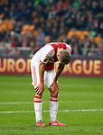 Nederland, Amsterdam, 20 februari 2014<br /> Europa League<br /> Seizoen 2013-2014<br /> Ajax-FC Salzburg<br /> Teleurstelling bij  Siem de Jong van Ajax na afloop van de wedstrijd