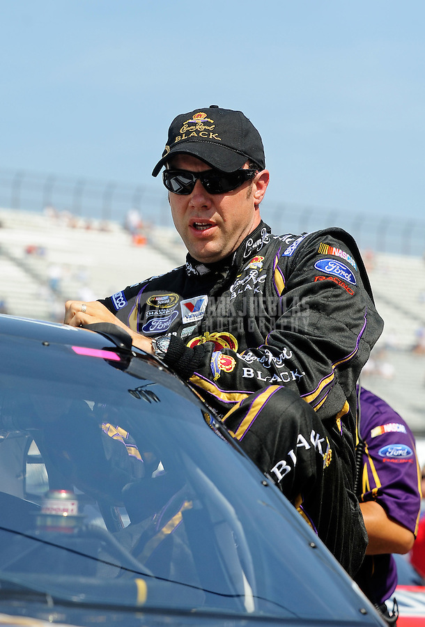 May 14, 2010; Dover, DE, USA; NASCAR Sprint Cup Series driver Matt Kenseth during qualifying for the Autism Speaks 400 at Dover International Speedway. Mandatory Credit: Mark J. Rebilas-