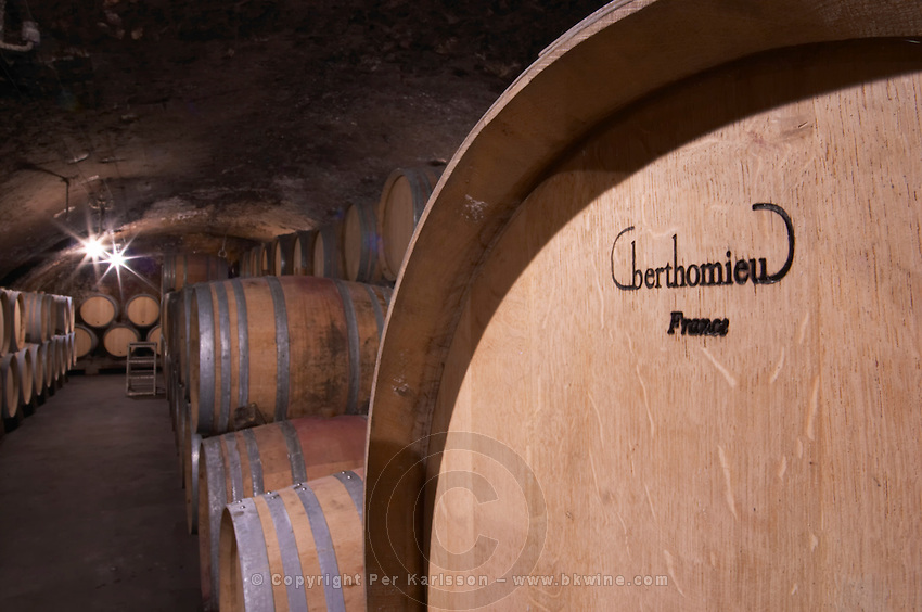 barrel with stamp berthomieu domaine gros f & s vosne-romanee cote de nuits burgundy france