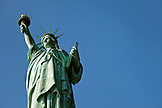 USA, New York, the Statue of Liberty on Liberty Island in New York Harbor