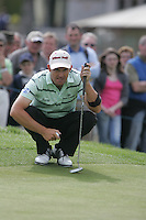 Padraig Harrington lines up his putt on the 15th green during the third round of the 2008 Irish Open at Adare Manor Golf Resort, Adare,Co.Limerick, Ireland 17th May 2008 (Photo by Eoin Clarke/GOLFFILE)