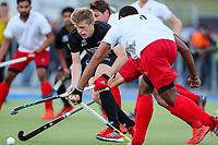 Sam Lane of the Blacksticks. International Hockey, Blacksticks men v Canada. Warkworth Hockey Turf, Warkworth, Auckland, New Zealand. Thursday 18 October 2018. Photo: Simon Watts/ Hockey NZ