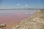 The Pink Lake of Torrevieja start venue for Stage 1 of La Vuelta 2019, a team time trial running 13.4km from Salinas de Torrevieja to Torrevieja, Spain. 24th August 2019.<br /> Picture: Eoin Clarke | Cyclefile<br /> <br /> All photos usage must carry mandatory copyright credit (© Cyclefile | Eoin Clarke)