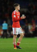 Wales'  Ben Woodbury looks dejected at the final whistle <br /> <br /> Photographer Ian Cook/CameraSport<br /> <br /> FIFA World Cup Qualifying - European Region - Group D - Wales v Republic of Ireland - Monday 9th October 2017 - Cardiff City Stadium - Cardiff<br /> <br /> World Copyright &copy; 2017 CameraSport. All rights reserved. 43 Linden Ave. Countesthorpe. Leicester. England. LE8 5PG - Tel: +44 (0) 116 277 4147 - admin@camerasport.com - www.camerasport.com