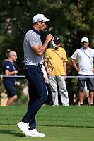 Alvaro Quiros (ESP) on the 3rd during Round 3 of the Omega Dubai Desert Classic, Emirates Golf Club, Dubai,  United Arab Emirates. 26/01/2019<br /> Picture: Golffile | Thos Caffrey<br /> <br /> <br /> All photo usage must carry mandatory copyright credit (© Golffile | Thos Caffrey)