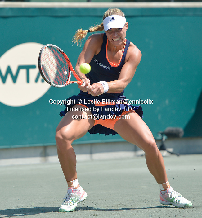 Angelique Kerber (GER) defeats Lara Arruabarrena (ESP) 6-3, 6-0 at the Family Circle Cup in Charleston, South Carolina on April 9, 2015.