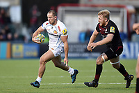 Sam Hill of Exeter Chiefs in possession. Aviva Premiership match, between Saracens and Exeter Chiefs on November 26, 2017 at Allianz Park in London, England. Photo by: Patrick Khachfe / JMP
