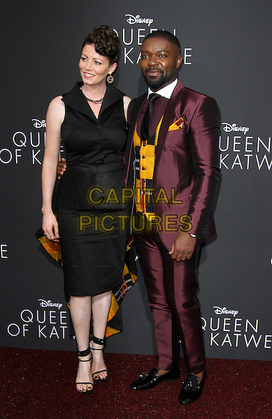 20 September 2016 - Hollywood, California - David Oyelowo with wife Jessica Oyelowo. &ldquo;Queen Of Katwe&rdquo; Los Angeles Premiere held at the El Capitan Theater in Hollywood. <br /> CAP/ADM<br /> &copy;ADM/Capital Pictures