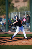 Jeremy Thompson (11) of Samuel Champion High School  in Boerne, Texas during the Baseball Factory All-America Pre-Season Tournament, powered by Under Armour, on January 13, 2018 at Sloan Park Complex in Mesa, Arizona.  (Zachary Lucy/Four Seam Images)